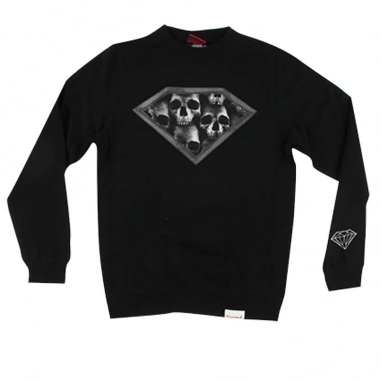 Diamond Supply Co. Skulls Crewneck Sweatshirt - Black
