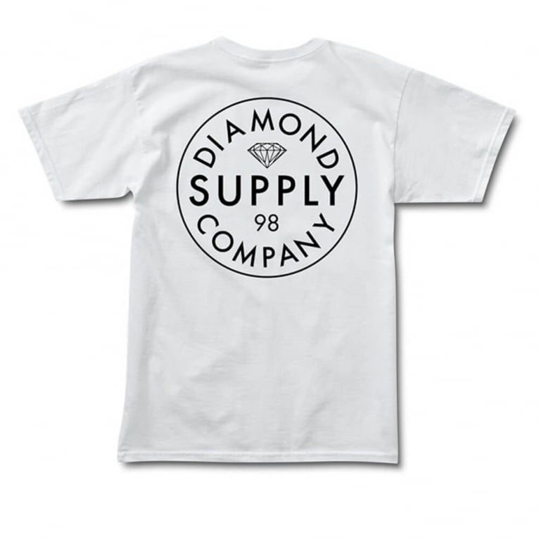 Diamond Supply Co. Stamped T-shirt - White