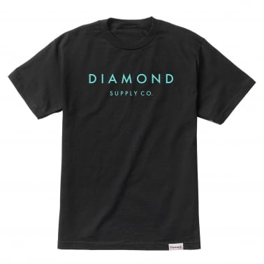 Stone Cut T-Shirt - Black/Diamond Blue