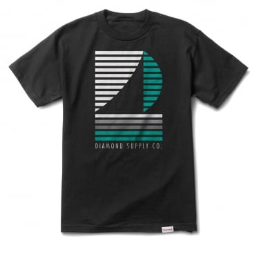 Stripe Boat T-shirt - Black