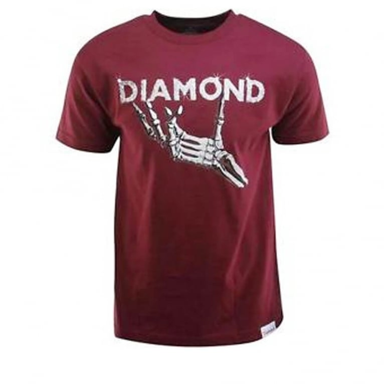 Diamond Supply Co. Styx & Stones T-shirt - Burgundy