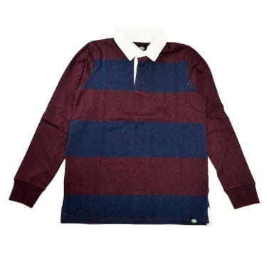 Cedar Long Sleeve Rugby Shirt - Maroon