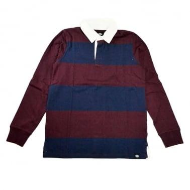 Cedar Long Sleeve Rugby Shirt - Maroon