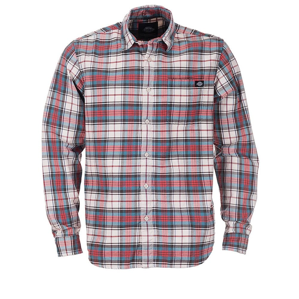 Buy dickies elverta plaid long sleeve shirt red for Dickey shirts clothing co