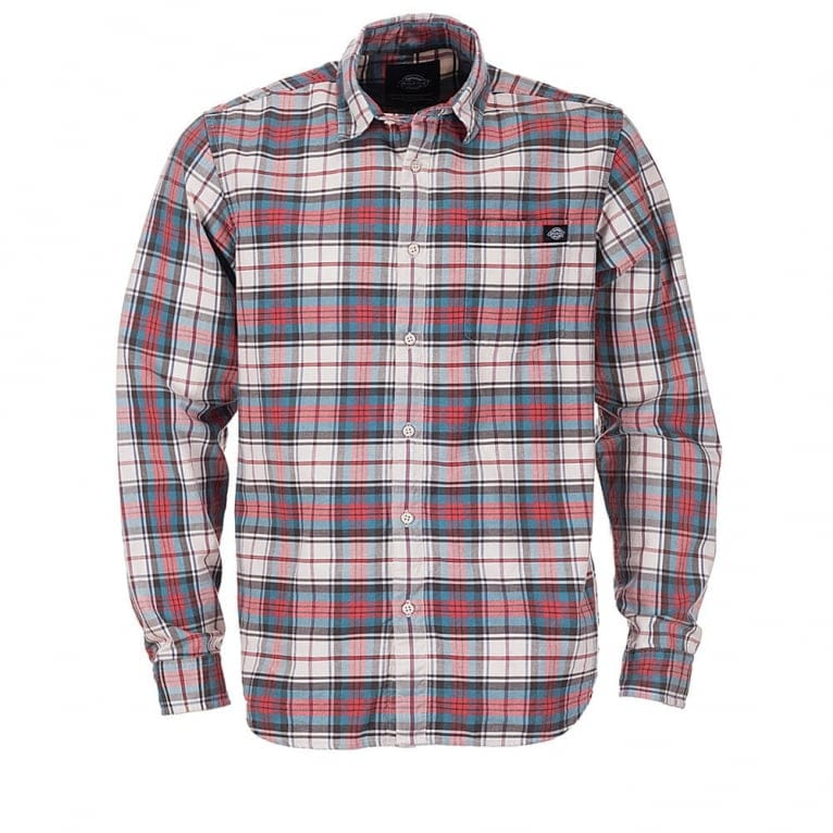 Dickies Elverta Plaid Long Sleeve Shirt - Red
