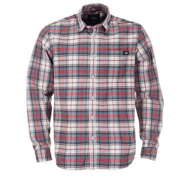 Elverta Plaid Long Sleeve Shirt - Red
