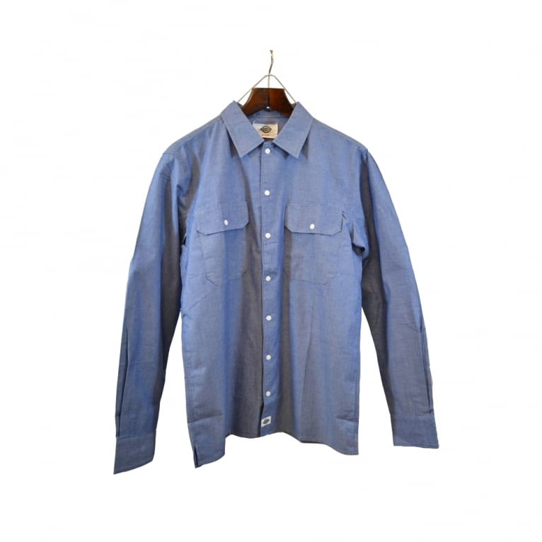 Dickies Hideout Chambray Shirt Blue