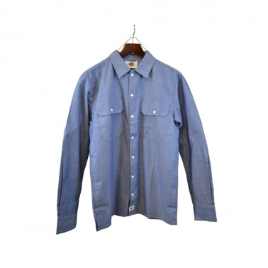 Hideout Chambray Shirt Blue