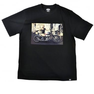 Hot Rod Biker Tee Black