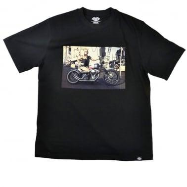 Hot Rod Biker Tee Black