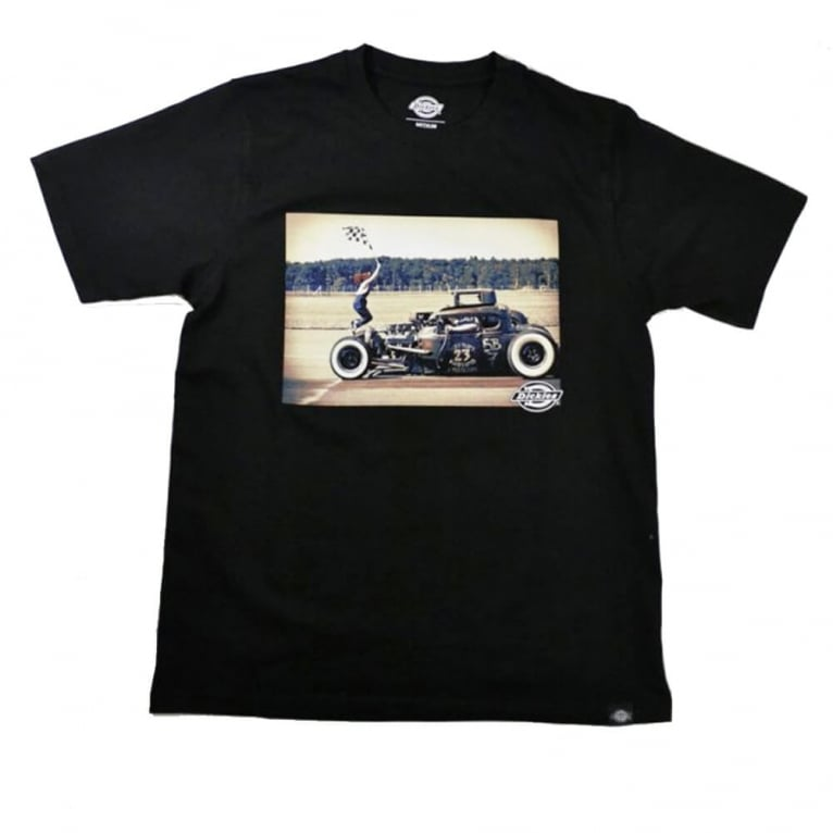 Dickies Hot Rod Flag Tee Black
