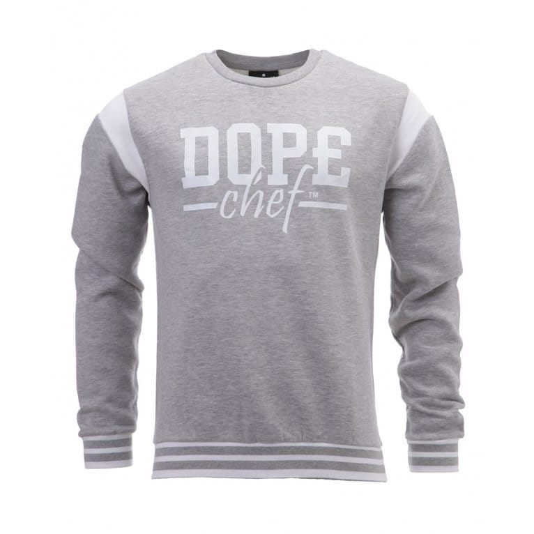 Dope Chef Varsity Sweat Grey Marl