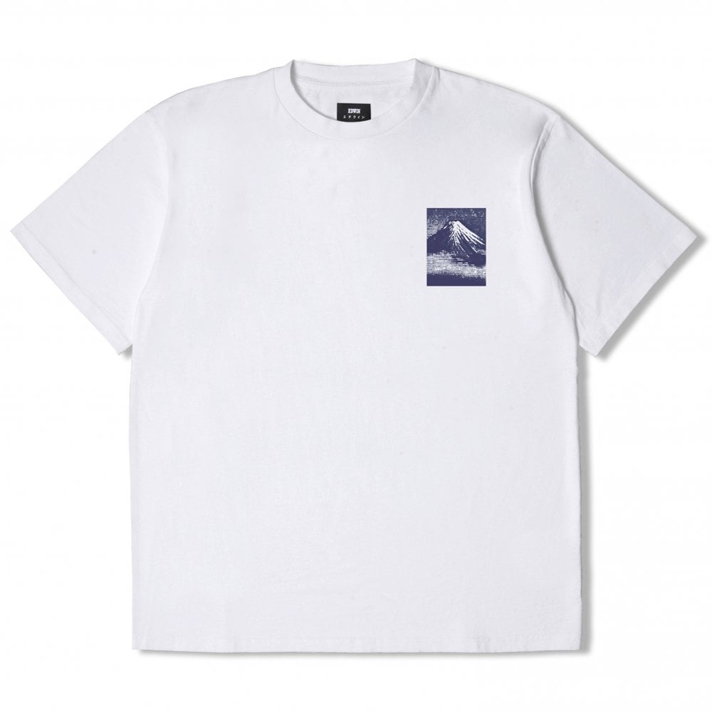 Edwin Japan From Mt Fuji T Shirt White Navy