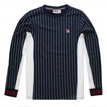 3036271c9 Eoghan Long Sleeve T-Shirt - Peacoat/ White