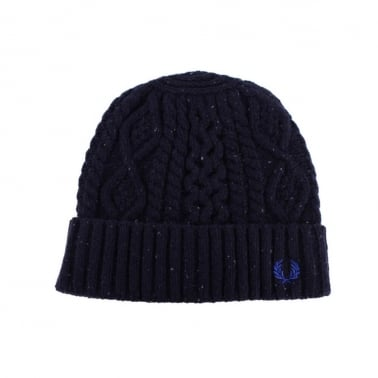 Cable Beanie - Navy