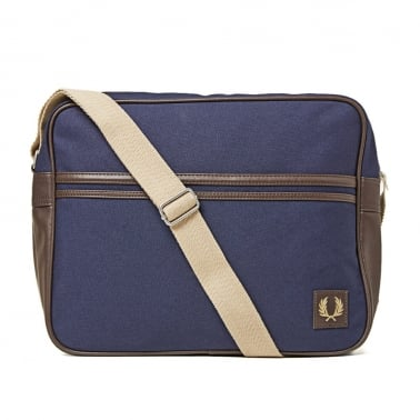 Classic Canvas Shouder Bag - Carbon Blue