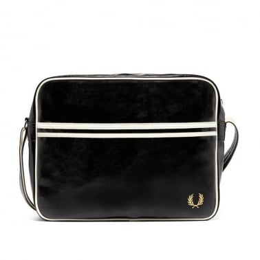 Classic Shoulder Bag - Black/Ecru