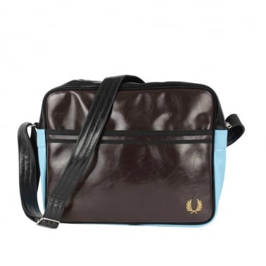 Classic Shoulder Bag - Dark Chocolate/Black