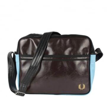Classic Shoulder Bag - Dark Chocolate/Black