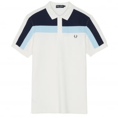 Colour Block Polo - Snow White