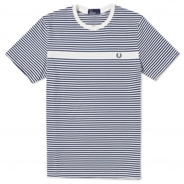 Fine Stripe T-Shirt - Snow White