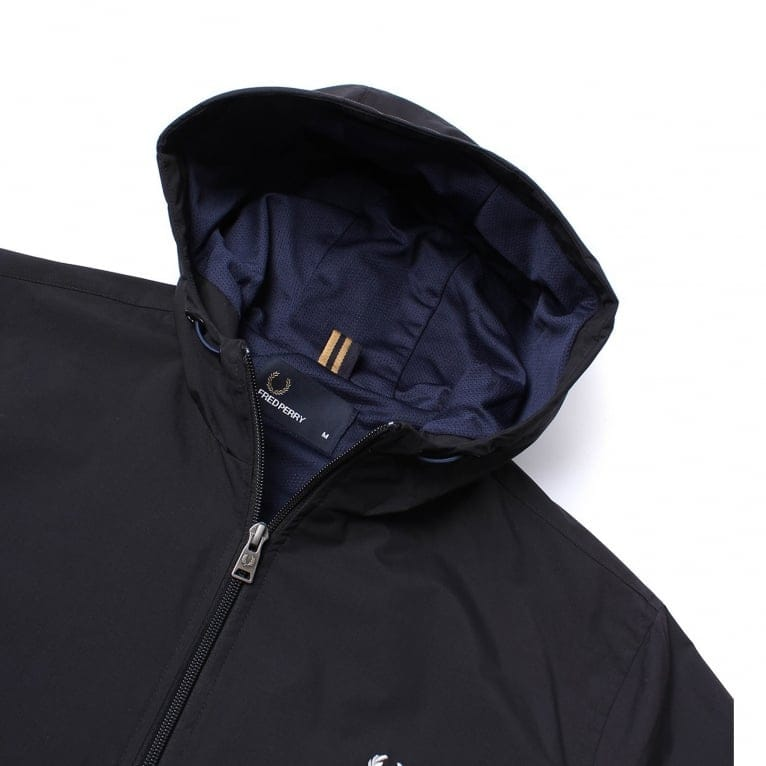 Fred Perry Hooded Brentham Jacket - Black