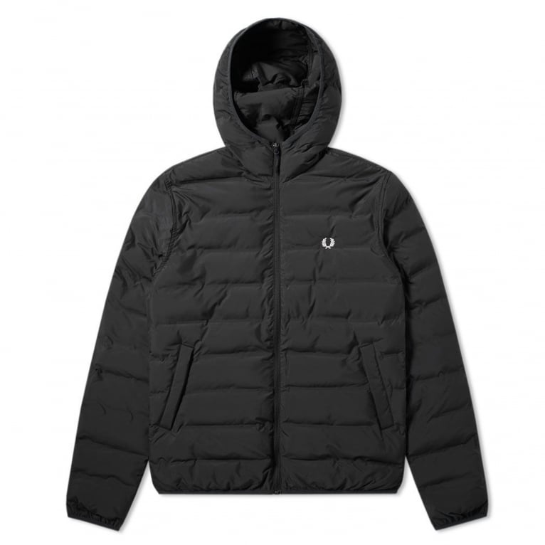 Fred Perry Insulated Hooded Brentham Jacket - Black