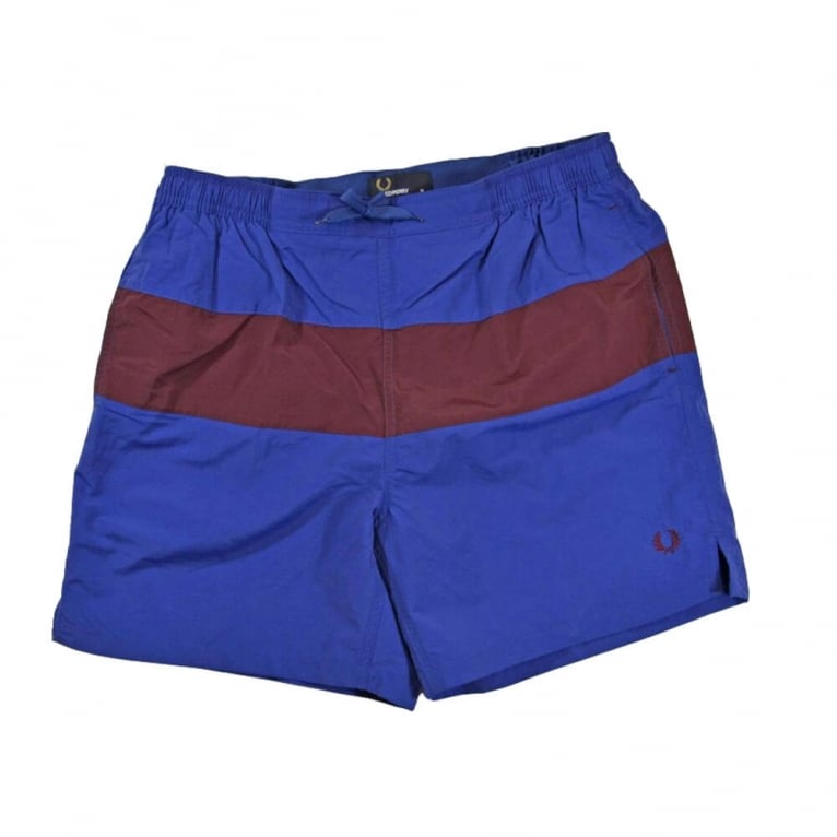 Fred Perry Panel Swim Short - Royal Blue