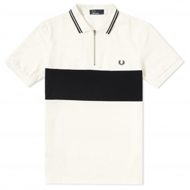 Panelled Zip Polo