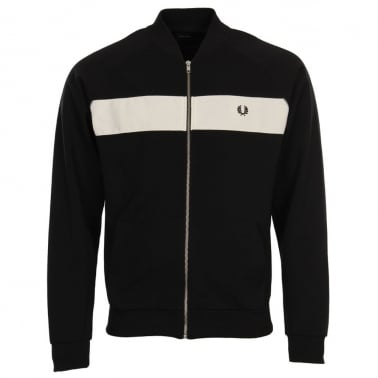 Reverse Tricot Track Jacket - Black