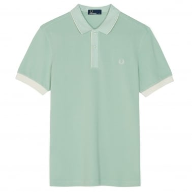 Stripe Collar Polo - Mint