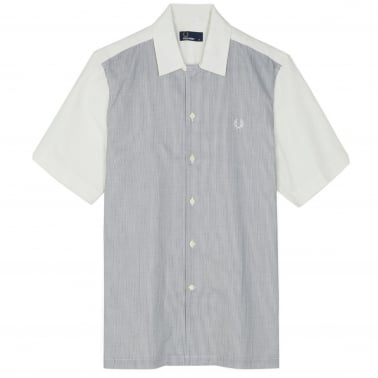 Stripe Panel Shirt - Snow White