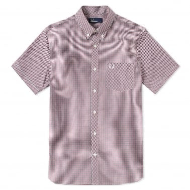 Three Colour Gingham Shirt - Dark Carbon