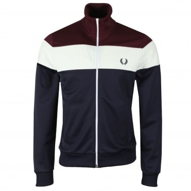 Three Colour Track Jacket - Carbon Blue
