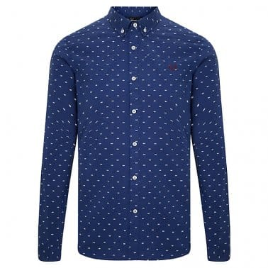 Tipped Dobby Shirt - French Navy