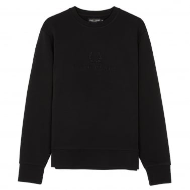 Tonal Embroidered Sweatshirt - Black