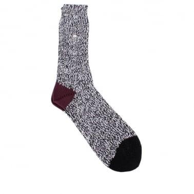 Twisted Sock Black/White