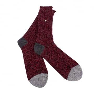 Twisted Sock Maroon