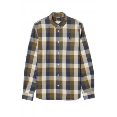 Winter Gingham Shirt - Dark Olive