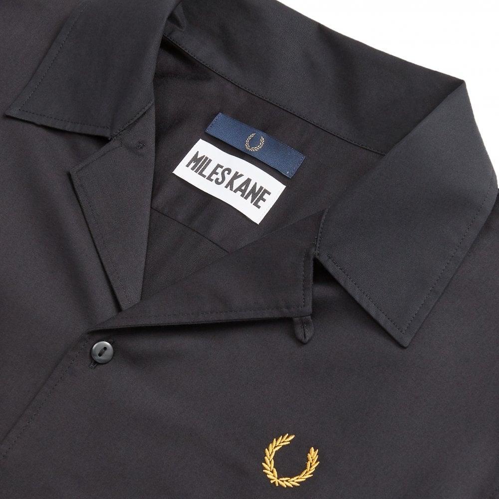 532a37db8 Fred Perry x Miles Kane Black Bowling Shirt