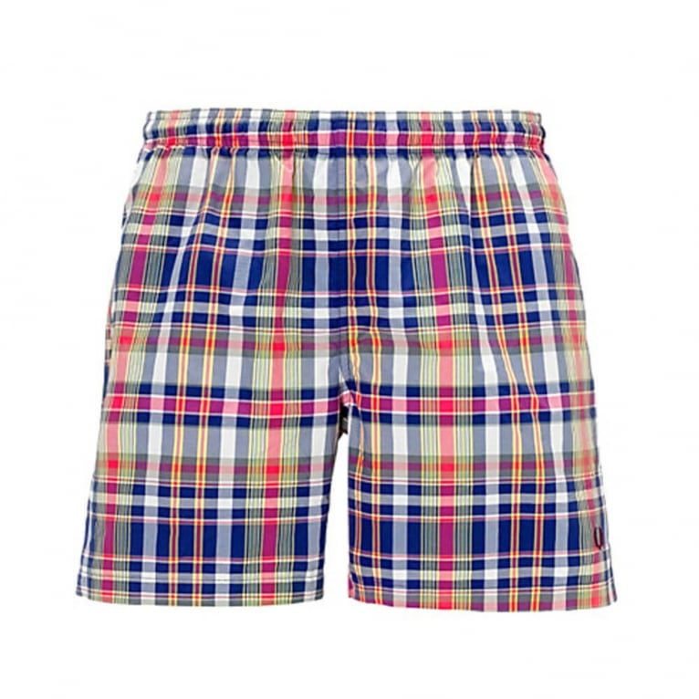 Fred Perry Yarn Dyed Swimming Shorts - Porcelain