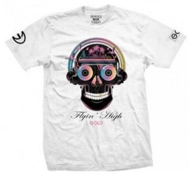 Gold Flying High T-shirt - White
