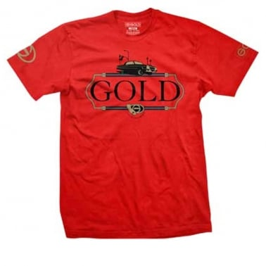 Gold South Central T-shirt - Red