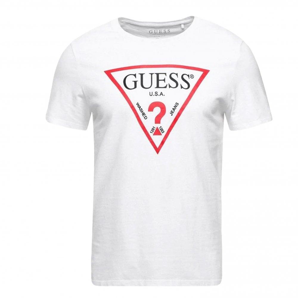 Guess Original Triangle Logo T-Shirt   Clothing