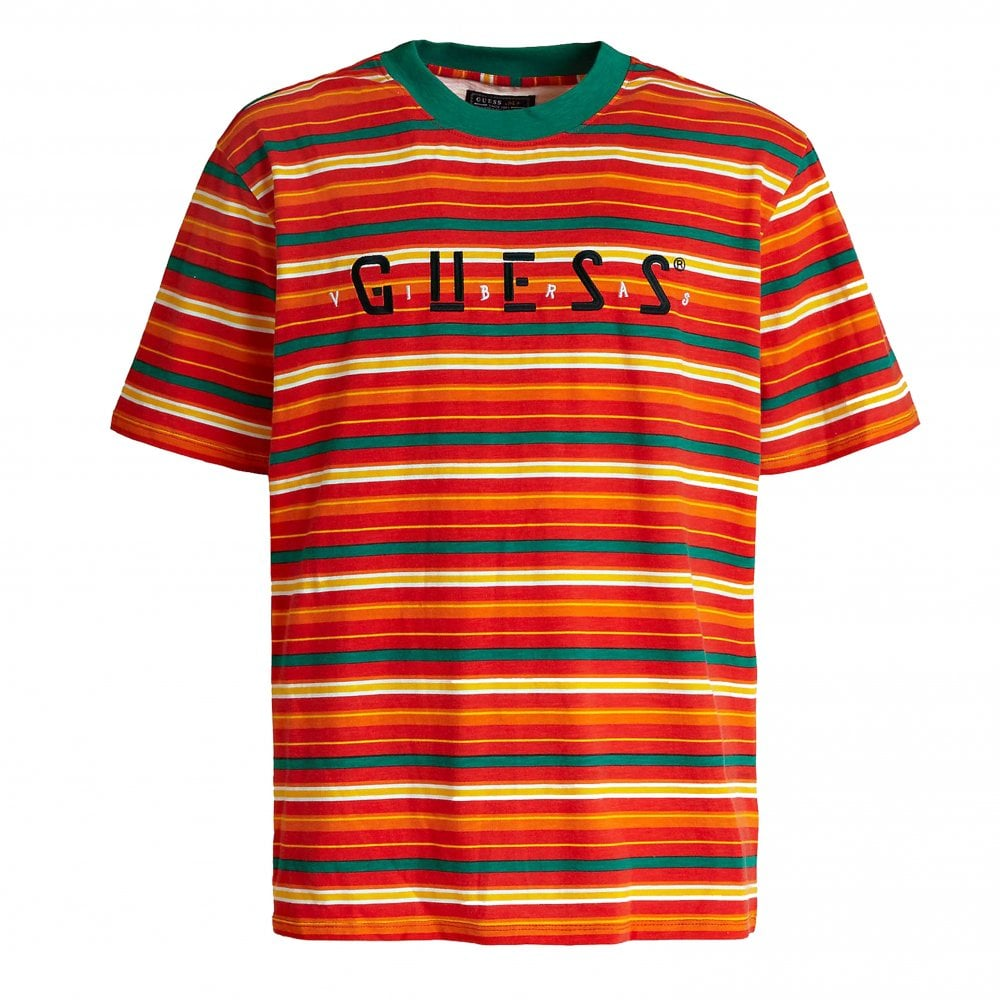 f33b0dadeb Guess x J.Balvin Tour Stripe T-Shirt | Clothing | Natterjacks