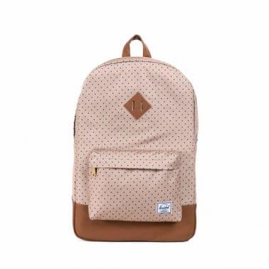 Heritage Backpack Khaki Polka