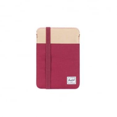 iPad Mini Sleeve - Burgundy/khaki