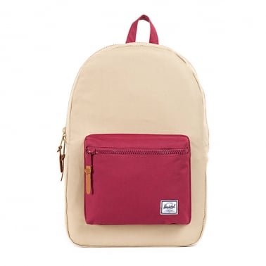 Settlement Backpack - Khaki/Burgundy
