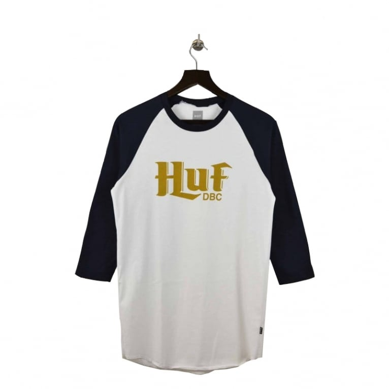 HUF Authentic L/S T-shirt - White/Navy