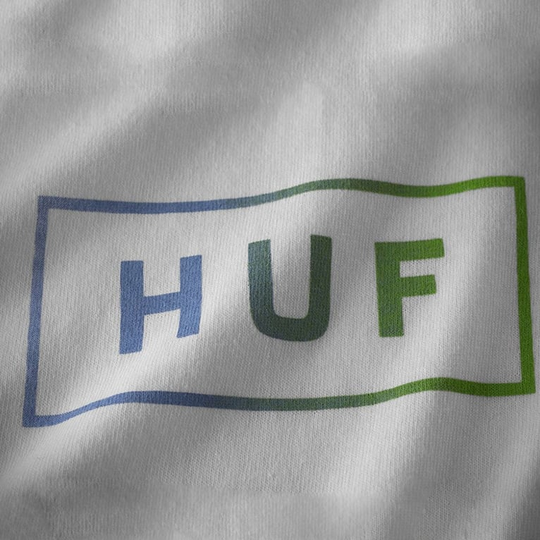 HUF Bar Logo UV Long Sleeve - White